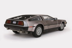 Modelo de escala Delorean Foto de Stock Royalty Free