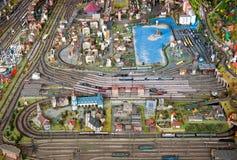 Modelo de escala detallado de una ciudad imágenes de archivo libres de regalías