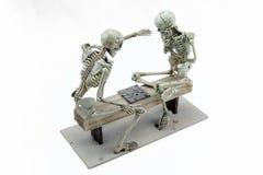 Modelo de esqueleto dos verificadores no fundo branco Imagens de Stock