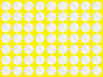 Modelo de estrella blanco en fondo amarillo Libre Illustration