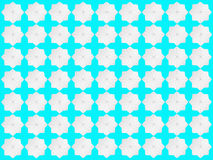 Modelo de estrella blanco en fondo azulverde Stock de ilustración