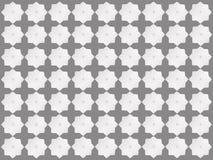 Modelo de estrella blanco en fondo gris Stock de ilustración