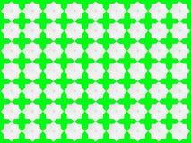 Modelo de estrella blanco en fondo verde Ilustración del Vector