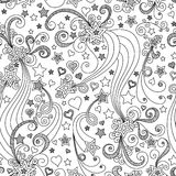 Modelo de estrella blanco y negro inconsútil del vector Imágenes de archivo libres de regalías