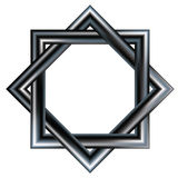 Modelo de estrella céltico de dos cuadrados que se enclavijan. Fotografía de archivo libre de regalías
