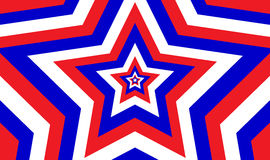 Modelo de estrella patriótico sin fin Fotos de archivo
