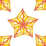 Modelo de estrellas anaranjado del vector Foto de archivo libre de regalías
