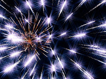 Modelo de estrellas de neón del día de fiesta como fondo abstracto Imagen de archivo