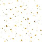 Modelo de estrellas del oro ilustración del vector