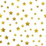 Modelo de estrellas del oro que brilla libre illustration