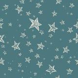 Modelo de estrellas dibujado mano ilustración del vector