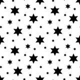 Modelo de estrellas inconsútil del vector Fondo de la estrella basado en los elementos al azar para el alto concepto de la defini libre illustration