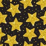 Modelo de estrellas de oro stock de ilustración