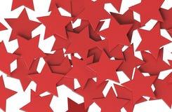 Modelo de estrellas ROJO aislado en el fondo blanco Imagen de archivo libre de regalías