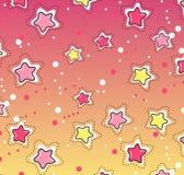 Modelo de estrellas rosado, amarillo Imagenes de archivo