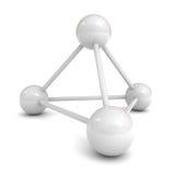 Modelo de estrutura 3d molecular branco ilustração royalty free