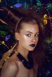 Modelo de fôrma Girl Mulher do feriado foto de stock royalty free