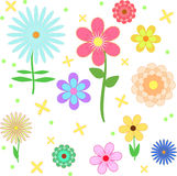 Modelo de flor brillante stock de ilustración