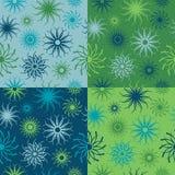Modelo de flor de la chispa en azules y verdes Fotografía de archivo libre de regalías