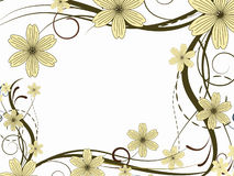 Modelo de flor decorativo Imagen de archivo libre de regalías