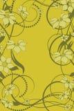 Modelo de flor decorativo Imágenes de archivo libres de regalías