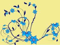 Modelo de flor decorativo Fotos de archivo libres de regalías