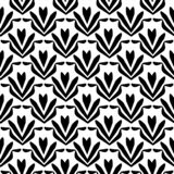 Modelo de flor estampado de flores inconsútil blanco y negro, textura geométrica ilustración del vector