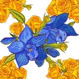 Modelo de flor inconsútil del vector Foto de archivo libre de regalías
