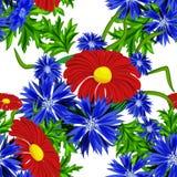 Modelo de flor inconsútil del vector Fotografía de archivo