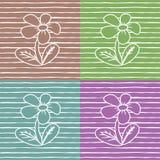 Modelo de flores Imagenes de archivo
