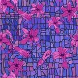 Modelo de flores abstracto con el hiacinth Foto de archivo