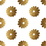 Modelo de flores abstracto del oro Fondo inconsútil floral pintado a mano Imágenes de archivo libres de regalías