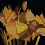 Modelo de flores amarillo Foto de archivo