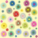 Modelo de flores coloreado Imágenes de archivo libres de regalías