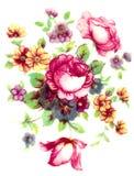 Modelo de flores de la vendimia Fotos de archivo
