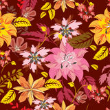 Modelo de flores inconsútil Fotografía de archivo libre de regalías