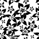 Modelo de flores monocromático libre illustration