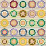 Modelo de flores multicolor Stock de ilustración