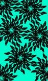 Modelo de flores negro fotos de archivo libres de regalías