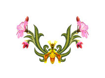 Modelo de flores y de hojas Fotografía de archivo