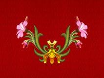 Modelo de flores y de hojas Fotos de archivo libres de regalías