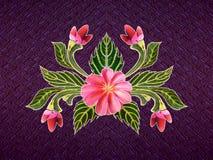 Modelo de flores y de hojas Fotos de archivo
