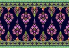 Modelo de flores y de hojas Imagen de archivo libre de regalías