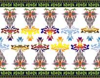 Modelo de flores y de hojas Imagenes de archivo
