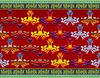 Modelo de flores y de hojas con estilo de la textura Foto de archivo libre de regalías