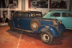 Modelo A de Ford que espera a restauração O museu de carros retros, Zelenogorsk Fotos de Stock Royalty Free