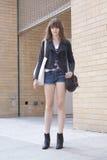Modelo de forma após um desfile de moda em New York Imagem de Stock Royalty Free