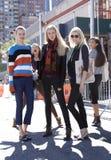 Modelo de forma após um desfile de moda em New York Fotos de Stock Royalty Free
