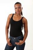 Modelo de forma bonito - mulher nova Imagem de Stock