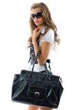 Modelo de forma com saco grande. Foto de Stock Royalty Free